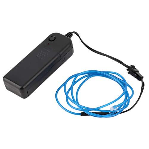 Colorido 1M EL Cable del Tubo de la Cuerda con Pilas de neón Flexible en frío Partido del Coche de la luz decoración de la Boda con el regulador