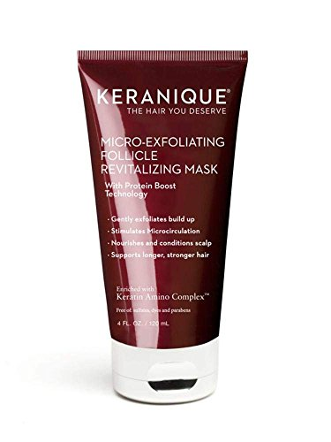 Keranique Micro-Exfoliating Follicle Revitalizing Mask, 4 Fl Oz - Keratin Amino Complex, Sulfate, Dyes And Parabens Free - Exfoliates, Nourish And Condition The Scalp, Supports Longer, Stronger Hair