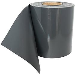Sichtschutzstreifen VIEWPROTECT KOMPAKT - 450 g/qm, Zaunfolie 35m x 19 cm, hochwertig stabil blickdicht, original workingHOUSE (anthrazit m. 20 Klemmstreifen)