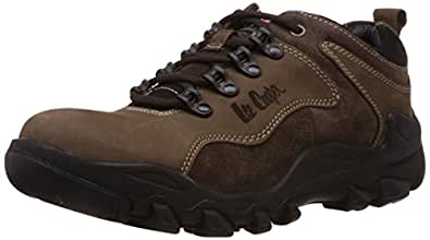 Lee Cooper Men's Brown Leather Trekking and Hiking Boots - 9 UK
