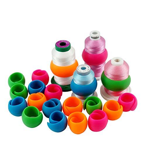 New brothread 20 Stück Garn spulen Halter Gewinde Spule Huggers - Halten Sie den Faden vom Abwickeln - Keine lose Fadenschwänze - zum Nähen von Spulen und Stickmaschinengewinden Spulen -
