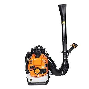 XINGXINGNS Benzin-Rückenlaubbläser, mit Rückenpolster & Tragegurt mit Geschwindigkeitsregler für den Benzinmotor, zum Reinigen von Straßen und Schnee-Pickups