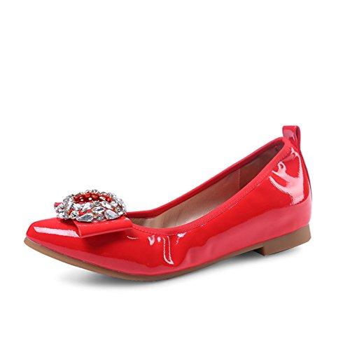 chaussures de mode de printemps/Chaussures plates pointues Asakuchi/Shoes coréennes de Joker sucrés B