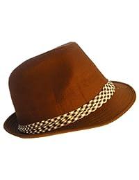 Ska Porkpie Sombrero (varios tamaños y colores) (grande, Brown)