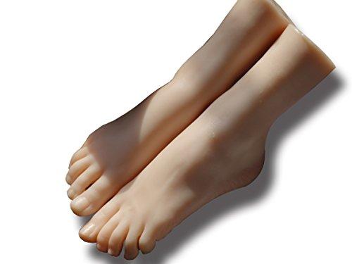kumiho Fußmodell Fuß Schaufensterpuppe mannequin Socken Strümpfe Schuhe Fußkettchen Modell anzeigen Hochhackiges Fuß modell echte Größe Display Präsentation Modell TPE (Rechter Fuß)