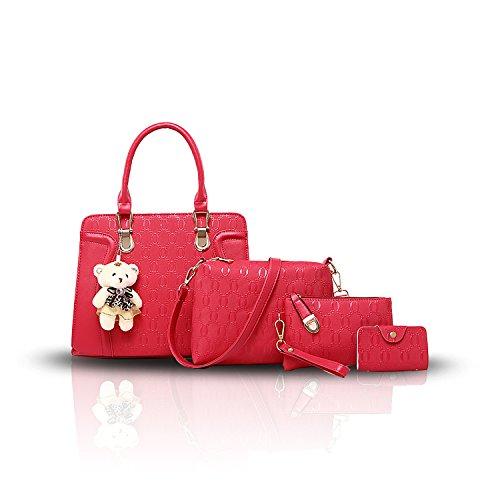 Sunas La borsa delle nuove donne di estate mette in mostra quattro insiemi del sacchetto di spalla del sacchetto delle donne / borsa + borsa + confezione della carta Rose
