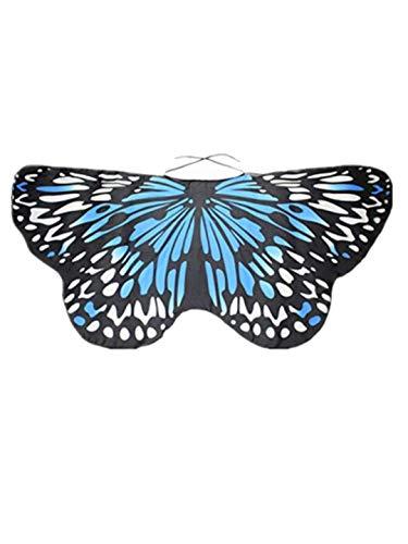 TEBAISE Frauen Karneval Cosplay Wings Flügel Butterfly Schmetterlings Schals Damen Parties Nymph Pixie Poncho Kostümzubehör Fasnacht Fasching Kostüm Schmetterling Poncho Schal Wrap Umhang Für Kinde