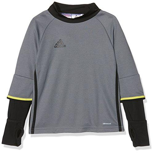 Sweat-shirt bambini adidas Condivo 16 Top da allenamento, Vista Grey S15/black/shock Yellow S16, 116, AZ1802