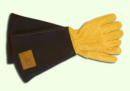 Rosenhandschuh aus Leder mit Stulpe für Herren