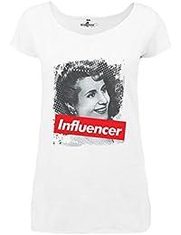 KiarenzaFD Camiseta Camiseta Mujer Influencer Eva Evita Peron Star Legend Larga, KTLD00007-L-
