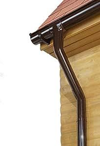 Marley Dachrinnen Set Duplexrinne Rg 70 2x2m braun mit Fallrohr Dachrinne Rinnensatz Regenrinne