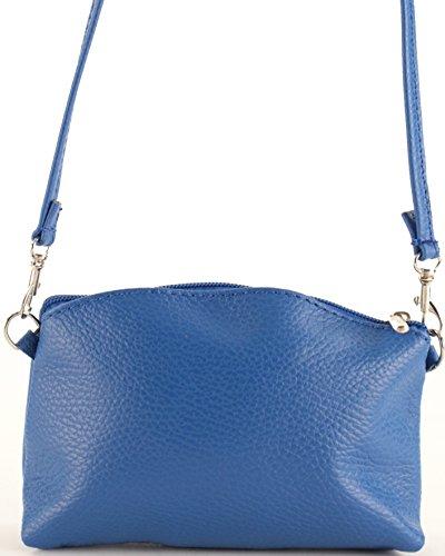 histoireDaccessoires - Pochette Pelle Donna - PO131623O-Madeline Blu reale