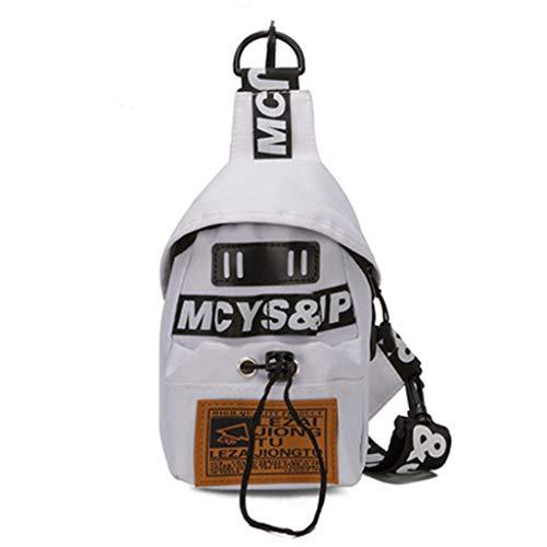 XZDCDJ Brusttaschen Handy Damen New Trend Wild Single Schulter Messenger Bag Fashion Hasp Crossbody Handtasche Weiß