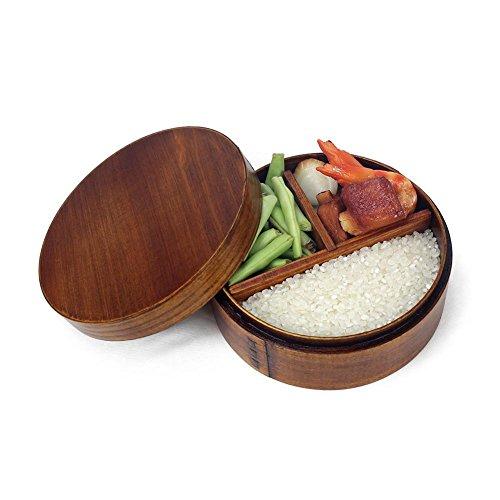 Augproveshak Bento Box Brotdose aus Holz, sicher und umweltfreundlich, tragbar, mit Riemen, für Küche, Lebensmittel, japanische Sushi Bento Boxen Bento Sushi Box
