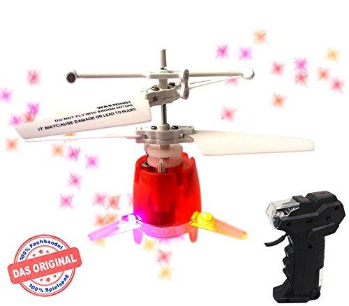 Preisvergleich Produktbild Mindscope RC UFO - Micro Drohne Rot!Mit hellen LED Disco Lichtern und 5 Lichtshows!Einfach zu Steuern mit der Hand!Das Spielzeug für Jung und Alt!Der Megaspaß auf jeder Party!Der HIT auf jeder Kinderparty,Flugspiel,Astronaut,Mini Drohne