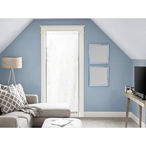 Soleil d'ocre Panama Voile pour Porte Fenêtre en Coton 70x200 cm Panama Coton Blanc