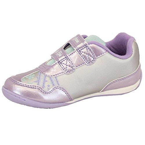 Baskets Fille Disney Frozen ANNA ELSA Lilas Chaussures Paillette Velcro Couronne Sport Lilas - FROCROTRA