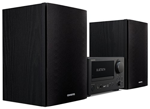 Onkyo Europe Electronics CS-375D-BB CD-Receiver-System mit Integrierter Bluetooth-Technologie, Front-USB-Anschluss, UKW/RDS und DAB+ Tuner Schwarz