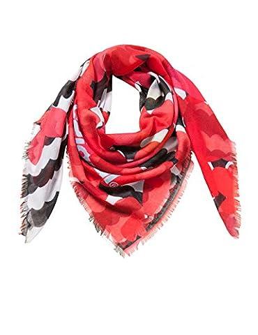 Desigual Mädchen Schals PAÑU_NISPERO, Rot (Rojo 3092), One Size (Herstellergröße:U)