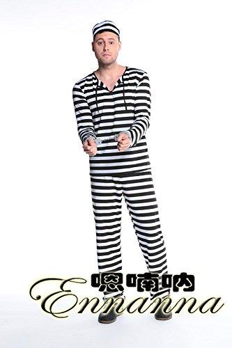 kostüm mit schwarzen und weißen Streifen,das Geld der männer ()