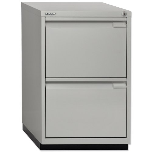 Best Price Bisley Multidrawer Cabinet 2 Filing Drawers W470xD470xH711mm Goose Grey Ref 2FE Online