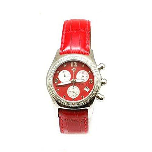 Aqua Master dw24–Montre bracelet pour femme, bracelet en cuir couleur rouge