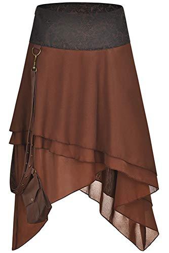 Tianxinshop Hippie Stil viktorianischen Renaissance mittelalterlichen Kostüm Piraten-Rock- Piratin Kleid
