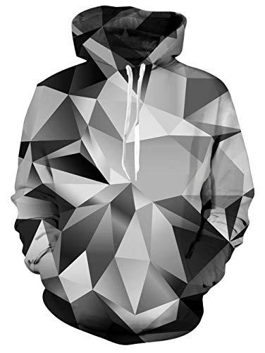 Vogseek Unisex Realistische 3D Cooler Fierce Wolf Kapuzenpulli Kühle Blut Hoodys Taschen für Teens Hip Hoper Blut Hoody