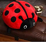 HJLHFD Kuscheltier Niedlichen Marienkäfer Plüschtier Insekt Weiche Puppe Kissen Kissen Neuheit Kinder Wohnzimmer Sofa Dekoration 40 cm