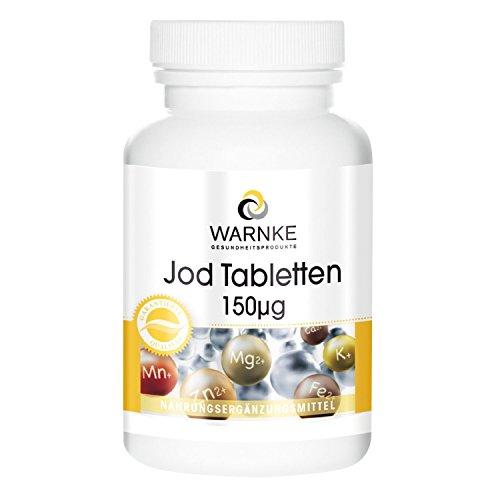 Yodo 150µg - 100% de requerimientos diarios de yodo - 100 comprimid