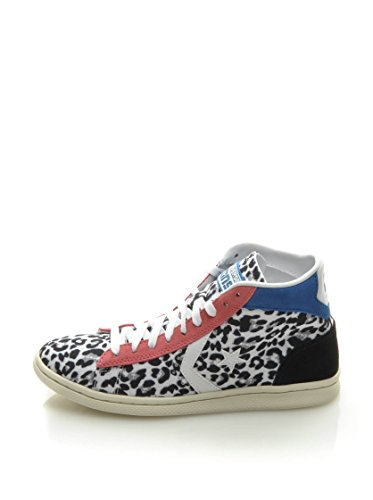 Converse  Pro Leather Lp Mid Canv/Sue Pr, Baskets pour femme Blanc