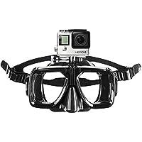 Mantona Taucherbrille mit Befestigung (für GoPro Hero 6 5 4 3+ 3 2 1, Session und andere kompatible Action Cams)