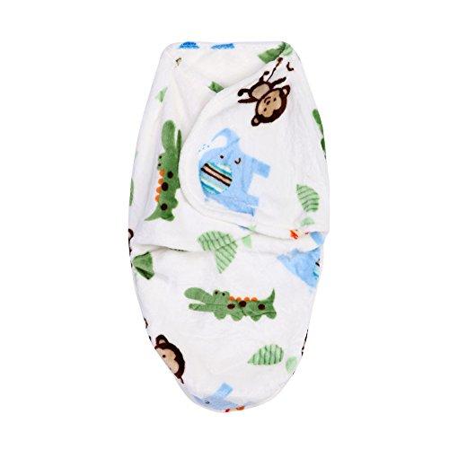 Domybest Neugeborene Baby Swaddle Wrap Soft Kurz Plüsch Decke Swaddling Schlafsack (B)