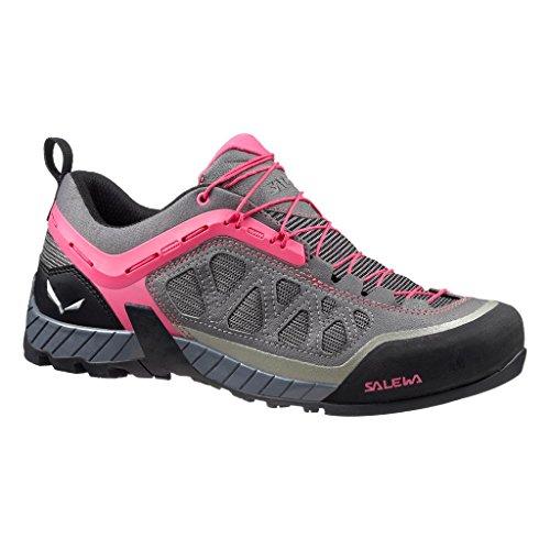 Salewa Firetail 3 - ZUSTIEGS-Bergschuh Damen, Damen Trekking- & Wanderhalbschuhe, Grau (Pewter/Pinky 4056), 38.5 EU, 00-0000063448 (Italienische Damen Stiefel)