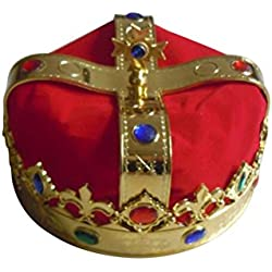 King's Crown LUOEM Royal Jeweled King Corona Disfraz Accesorio Sombrero Carnaval Favores de fiesta
