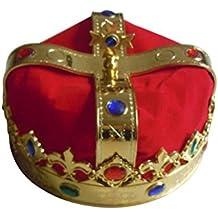Kings Crown LUOEM Royal Jeweled King Corona Disfraz Accesorio Sombrero Carnaval Favores de fiesta