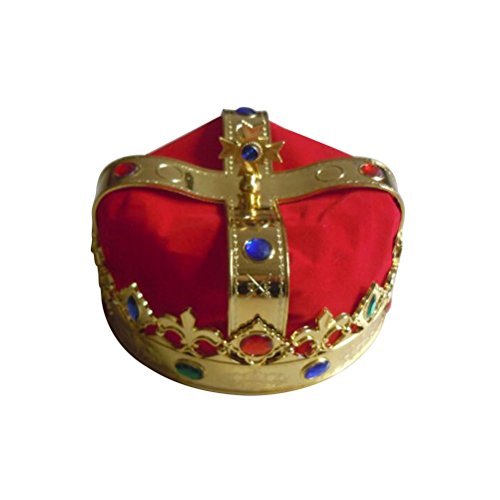 Kostüm Kroenen - LUOEM Königs Krone Hut Party Kostüm Zubehör Königliche Jewelled Crown Cosplay Karneval Karneval Party Favors