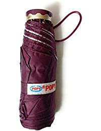 Popy Five Fold Purple With Superior Quality Silver Coated Waterproof Fabric Andd Light Weight Structure