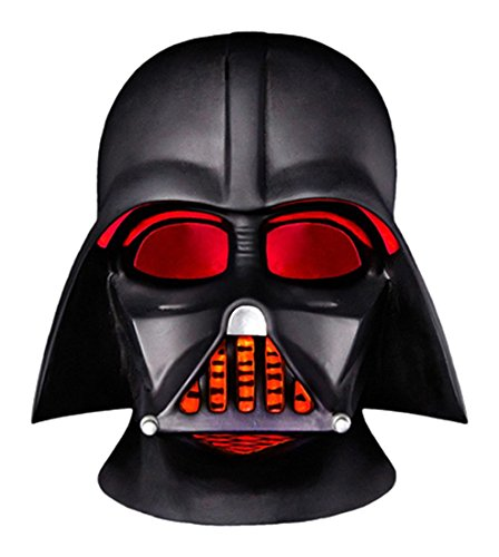Star Darth Helm Vader Wars (Groovy gr90669 Helm Set Darth Vader Star Wars LED Schreibtischlampe mit batteriebetrieben, Kunststoff, schwarz, 15 x 16 x)