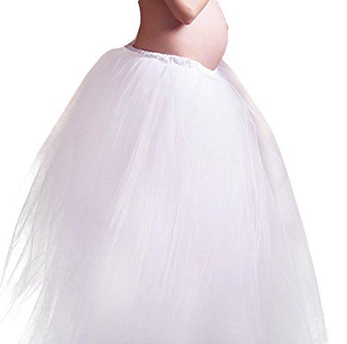 Happy Cherry Sexy Schwanger Fotoshooting Fotografie Requisiten Prop Frauen Lang Kleid Rock Mutterschaft Fotografie Kleidung Maxirock - Weiß