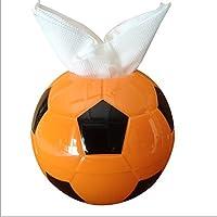 pingofm Creative color fútbol forma toalla de papel de dibujo papel toallas y papel higiénico caja volumen bandeja papel higiénico titulares