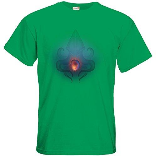 getshirts - Das Schwarze Auge - T-Shirt - Die Siebenwindküste - Götter und Dämonen - Krakenauge Kelly Green