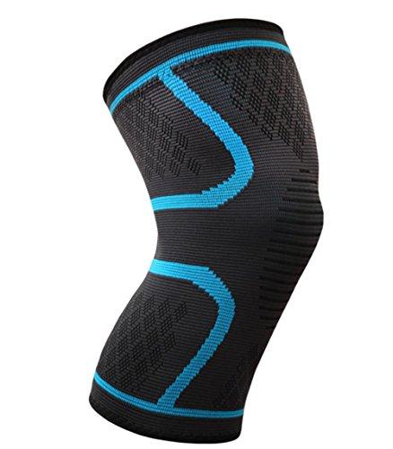 D&F die fixierbare Kniebandage sorgt für mehr Stabilität beim Sport und im Alltag, wirkt schmerzlindernd bei Gelenkkrankheiten wie Arthrose, schützt beim Laufen und Joggen, für Damen und Herren, rechts un