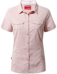 Craghoppers Ladies NosiLife Adventure Short Sleev Blossom Pink 10