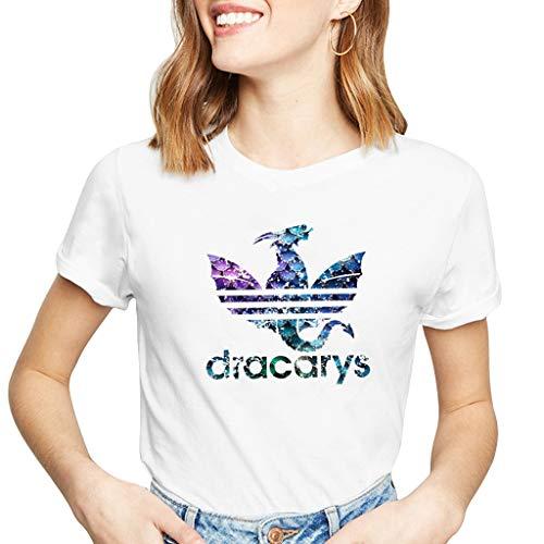 en,Teenager Mädchen Shirt Sport Baseball Hemd Thrones Game of Tops Frauen Oberteile Kurzarm Casual Hemd Tops Shirt Blusen T-Shirt Pullover Sale (B42901,S) ()