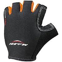 Massi Comp Tech - Guanti da ciclismo unisex, colore nero / arancione fluoro, taglia S