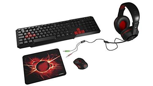 Mars Gaming MACP1 - Pack de teclado, ratón, auriculares y alfombrilla gaming,...