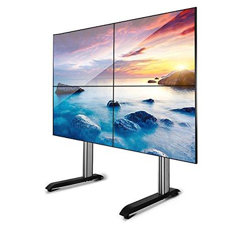 B-Tech Universal Video Wall Stand - 6 Variations - BT8370  2x2 Layout - Black Black