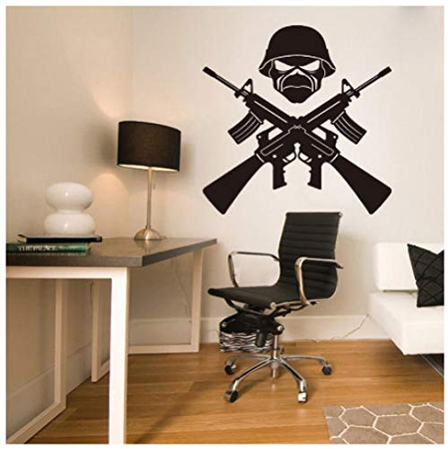 Art Decor Ak-47 Weapon Soldier Removable Vinyl Quote Wall Sticker Decal Boys Room Bedroom45 X 45 Cm