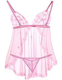 3c14e6c7698d Tommy Vans Babydoll Lingerie for Women/Ladies Sexy Lace Honeymoon Bikini Bra  & Panties for